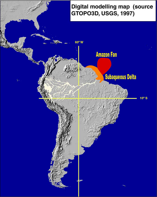 Amazon River In South America Map.Sedimentary Record And Climatic History Significance Scientific