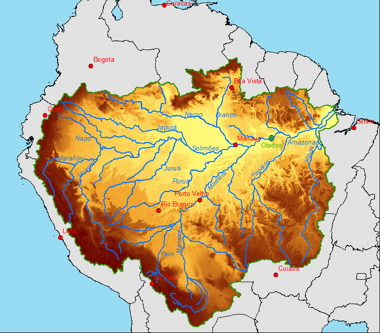 Research Proposals Scientific Proposal Clim Amazon IRD - Where is the amazon river